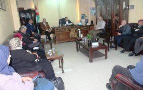 رئيس بلدية عجلون يلتقي اعضاء المجلس البلدي والمحلي