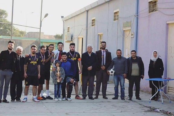 اختتام بطولة خماسي كرة القدم للمراحل الدراسية في كلية طب المستنصرية