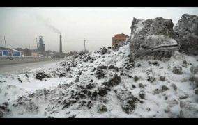 ثلوج سوداء في سيبيريا بسبب التلوث