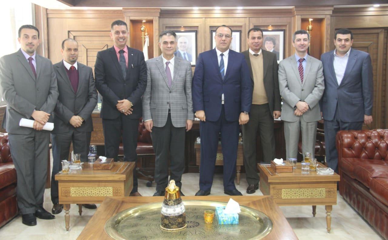 بحث التعاون بين البلقاء التطبيقية والملحقية الثقافية الليبية