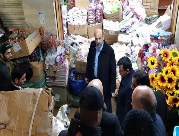 الرزاز يدعم التجار المتـضررين وسط البلد