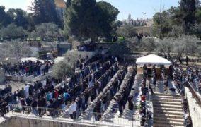 40 ألفً فلسطيني يؤدون الجمعة في الأقصى