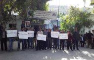 موظفي سلطة وادي الأردن ينظمون إعتصاماً مفتوحاً في الأغوار