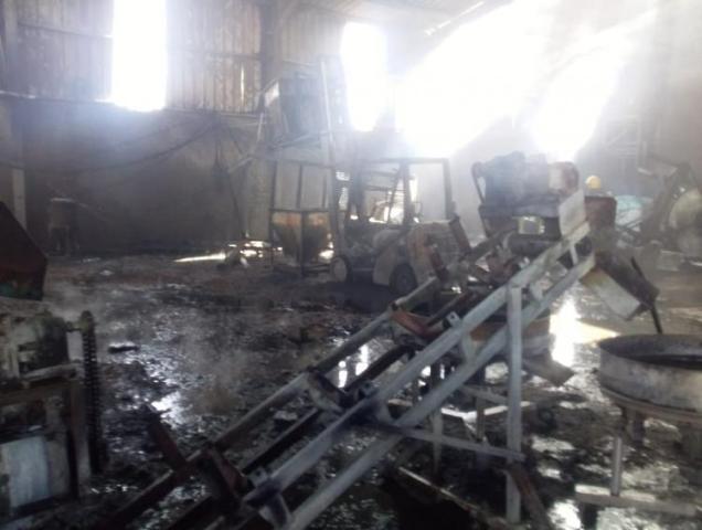 نشوب حريق في مصنع أسمدة في معان